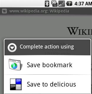Android Customisation 101 – Bookmarking