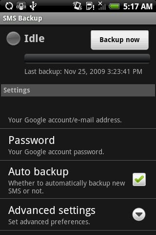 Back Up Text Messages to Your Gmail Account with Android