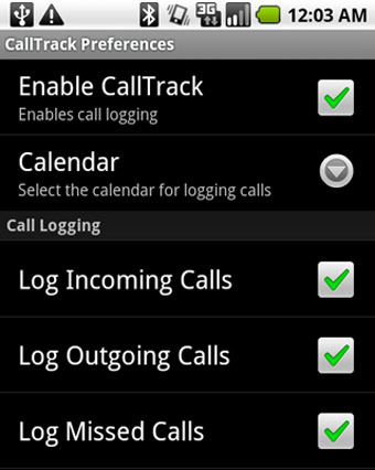 CallTrack A Handy App for Storing Call Times