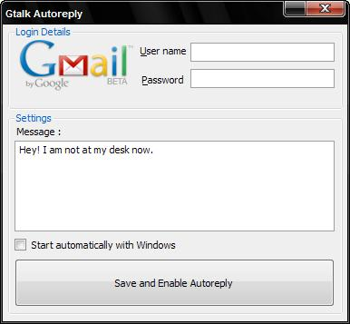 Disable Automatic Sign in of Google Talk