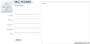 Add Contacts image