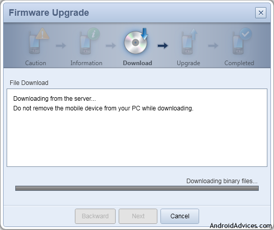Firmware Upgrade Download Binary Files