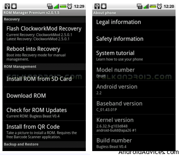 ROM MANAGER RECOVERY