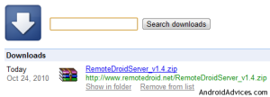 download remote droid server