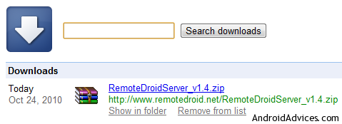 Remotedroid for android download.