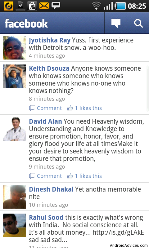 facebook for android news feed