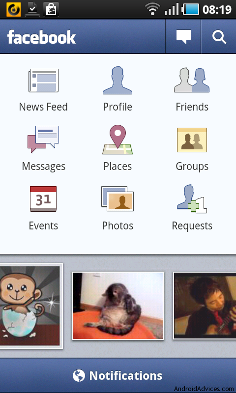 facebook for android updated