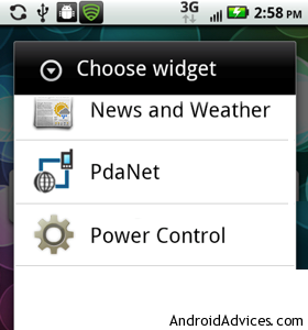 Choose Widget