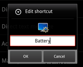Edit Shortcut
