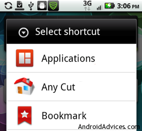 Select Shortcut