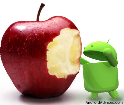 Apple Android logo