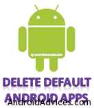 Delete default android apps