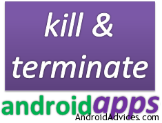 kill android apps logo