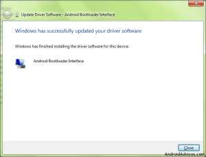 Successfully Updated driver