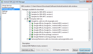 Android SDK driver Manager