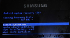 Galaxy S Recovery Mode