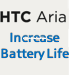 HTC Aria Increase Battery Logo