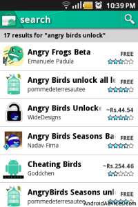 Search Angry Birds Unlock All Levels App