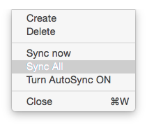 SyncMate Sync Options