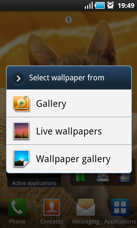 android phone live wallpaper selection