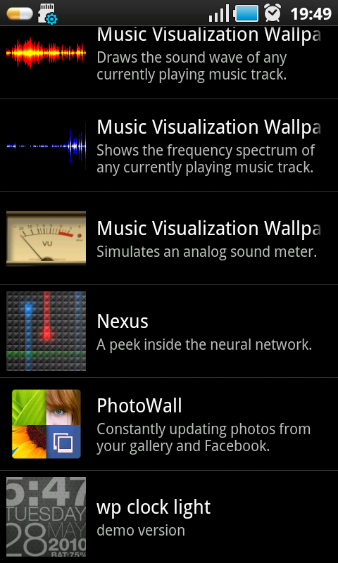 android photowall  live wallpaper