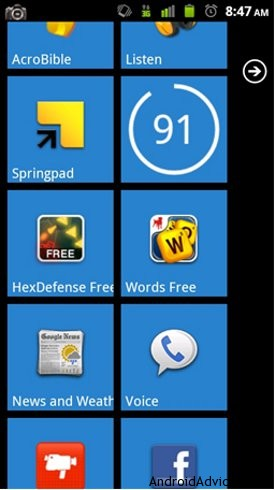 launcher 7 android widgets