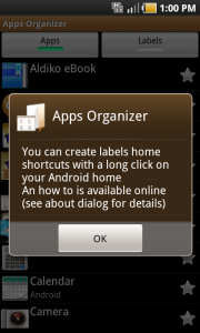 Apps Organizer intro