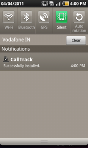 Call Track App downloaded