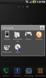 Labels as Widget
