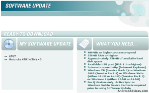 Software Update Atrix 4G
