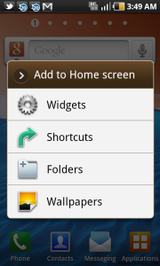 Add to Home screen