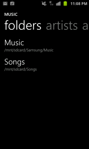Uber Music Player - Folders