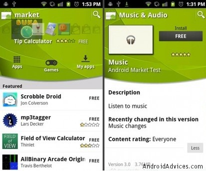 download market for android phone