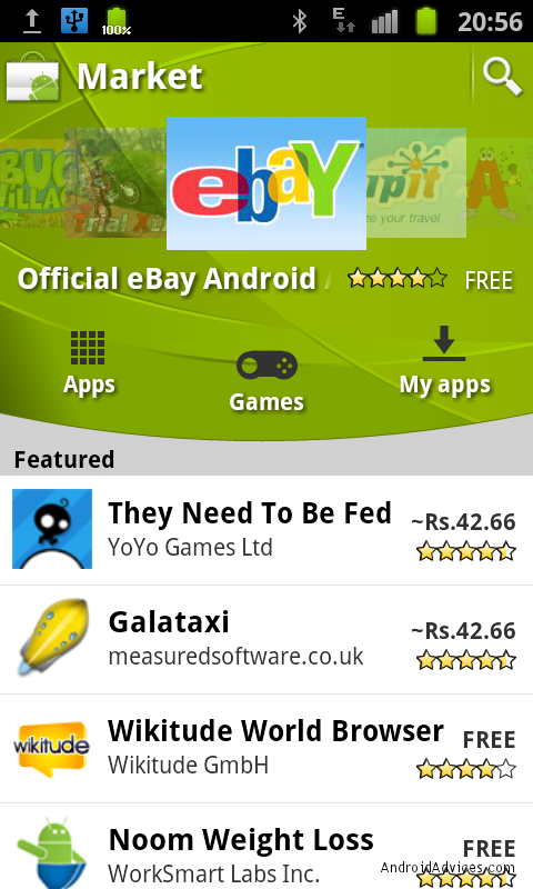 android market galaxy s ii