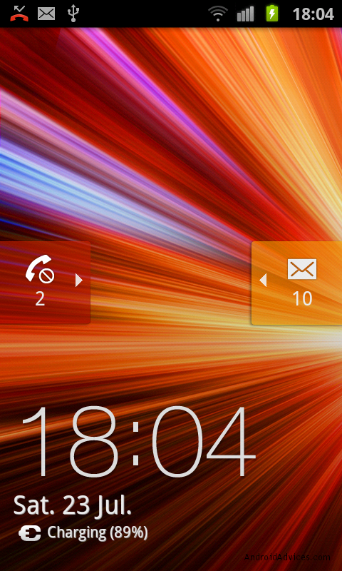 samsung galaxy s II lock screen notifications