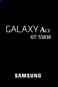 Galaxy Ace Welcom Screen