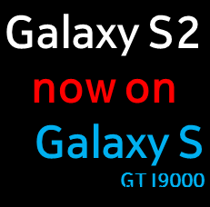 Galaxy S2 on Galaxy S Logo