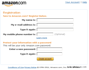 Registration Amazon
