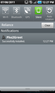 Pho2Greet App downloaded