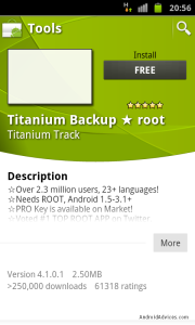 Titanium Backup Application