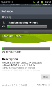 Download Titanium Backup Application