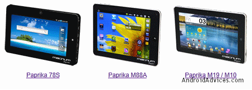 Paprika Series Tablets