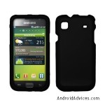 Black Rubberized Hard Cover Crystal Case