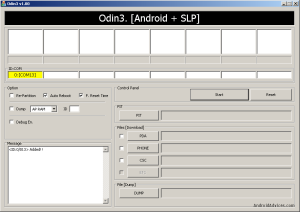 Connect to Odin for XXJVS Root