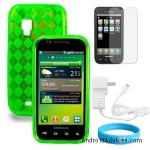 Green Checker Anti Slip Silicone Bumper Case
