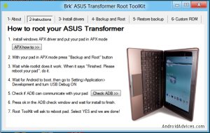 Instructions to Root ASUS Transformer