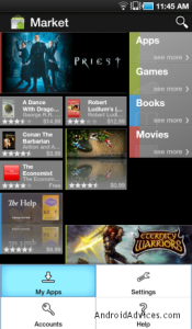 My Apps in Android Market Place