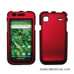 Red Rubberized Hard Cover Crystal Case