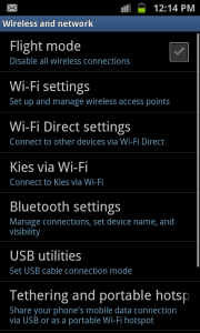 Samsung Galaxy S2 Wireless network