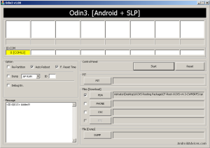 Select XXJVS Rooting Tar in PDA